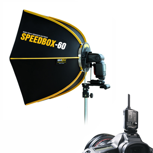 Speedbox-60 + FlashWave-3 RX 2 with TX / SPEEDLITE SOFTBOXSMDV