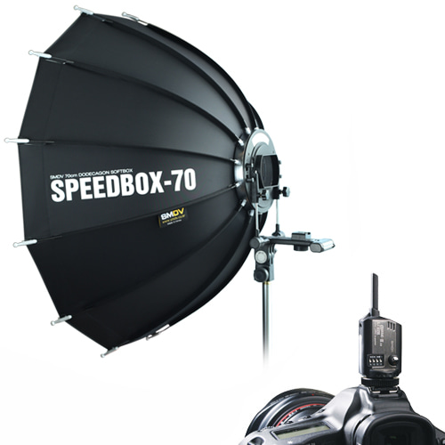 Speedbox-70 + Flash Wave-3 RX 2 with TX / SPEEDLITE SOFTBOXSMDV