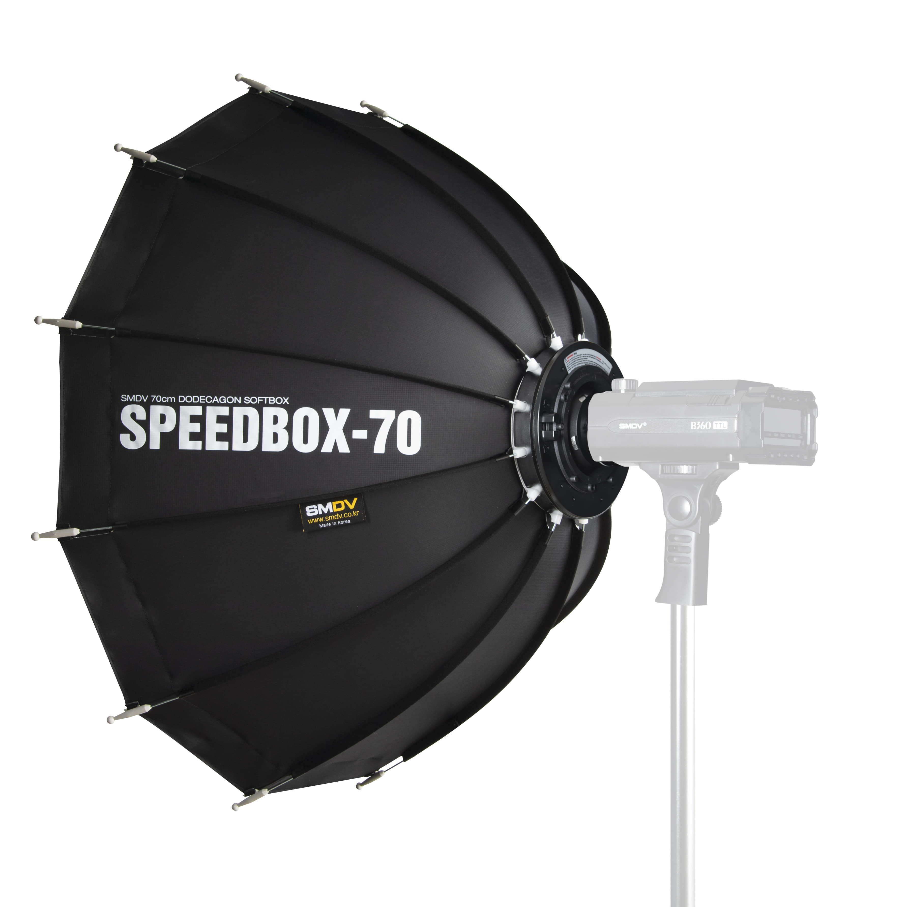 SPEEDBOX-70 / Size : 70 x 68 cm SPEEDLITE SOFTBOX / B360 TypeNot for High Heat UsageSMDV